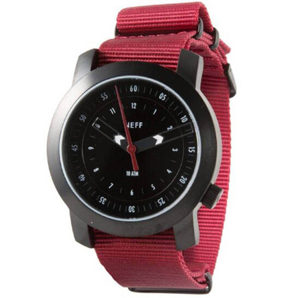 Neff - Tactical Black/Maroon Watch