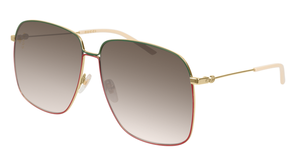 abcf07f8c61 Gucci - GG0394S Gold Sunglasses   Brown Gradient Lenses – New York Glass