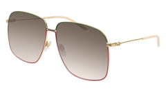 Gucci - GG0394S Gold Sunglasses / Brown Gradient Lenses