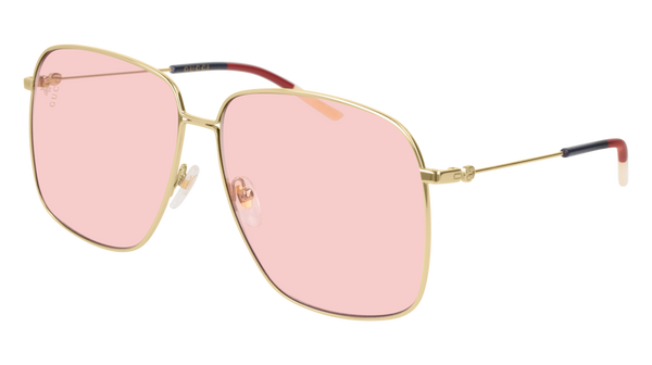 Gucci - GG0394S Gold Sunglasses / Pink Lenses