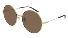 Gucci - GG0395S Gold Sunglasses / Brown Lenses