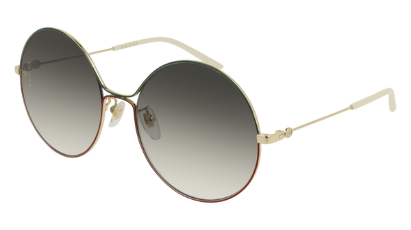 Gucci - GG0395S Gold Sunglasses / Brown Gradient Lenses
