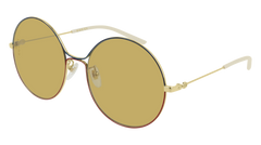 Gucci - GG0395S Gold Sunglasses / Yellow Lenses