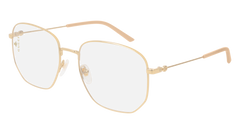 Gucci - GG0396S Gold Sunglasses / Transparent Lenses