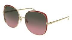 Gucci - GG0400S Gold Sunglasses / Dark Multicolor Gradient Lenses