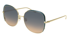 Gucci - GG0400S Gold Sunglasses / Light Multicolor Gradient Lenses