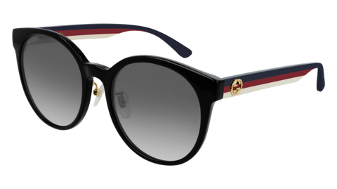 Gucci - GG0416SK Black Multicolor Sunglasses / Grey Gradient Lenses