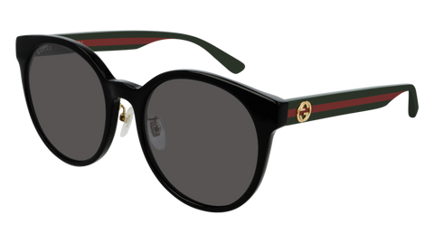 Gucci - GG0416SK Black Multicolor Sunglasses / Grey Lenses