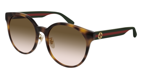 Gucci - GG0416SK Havana Multicolor Sunglasses / Brown Gradient Lenses