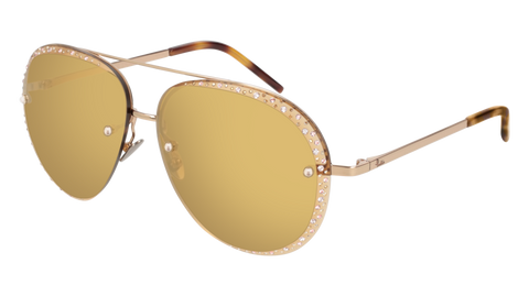Pomellato - PM0027S 60mm Gold Sunglasses / Violet Yellow Lenses