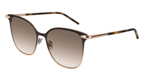 Pomellato - PM0052S 53mm Brown Sunglasses / Gold Brown Lenses