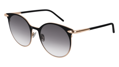 Pomellato - PM0053S 52mm Black Sunglasses / Gold Grey Lenses