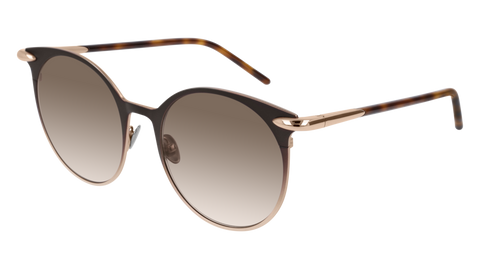 Pomellato - PM0053S 52mm Brown Sunglasses / Gold Brown Lenses