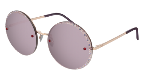 Pomellato - PM0060S 58mm Gold Sunglasses / Green Pink Lenses