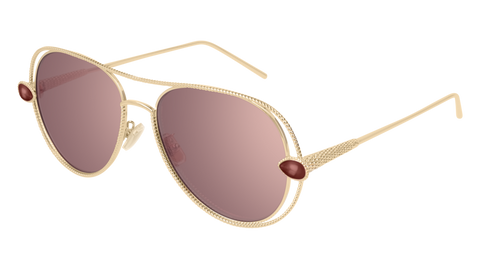 Boucheron - BC0030S Red Gold Sunglasses / Red Lenses