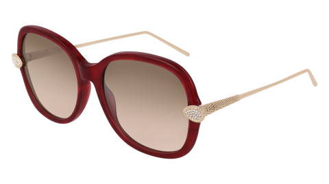 Boucheron - BC0032S Red Gold Sunglasses / Pink Lenses