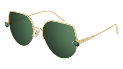 Boucheron - BC0065S Green Gold Sunglasses / Green Lenses
