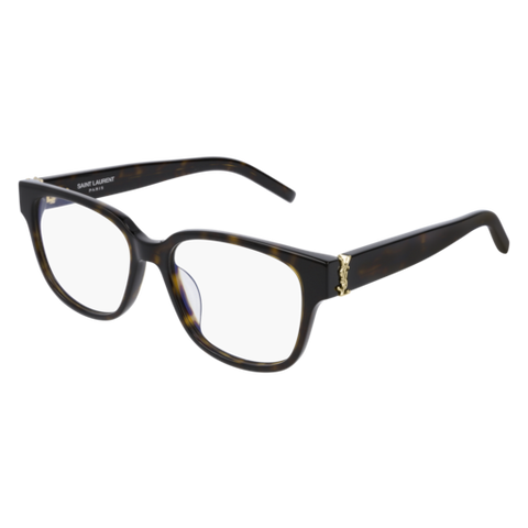 Saint Laurent New Wave SL 1 Light Havana Sunglasses / Green Lenses