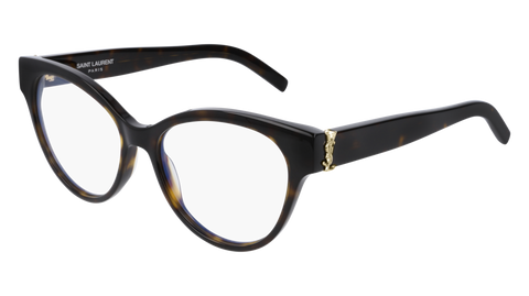 Saint Laurent - SL M34 Dark Havana Eyeglasses / Demo Lenses