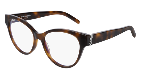 Saint Laurent - SL M34 Blonde Havana Eyeglasses / Demo Lenses