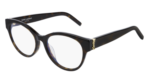 Saint Laurent - SL M34/F Dark Havana Eyeglasses / Demo Lenses
