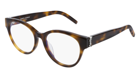 Saint Laurent - SL M34/F Blonde Havana Eyeglasses / Demo Lenses
