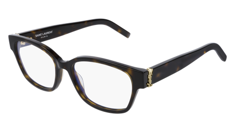Saint Laurent - SL M35 Light Havana Eyeglasses / Demo Lenses