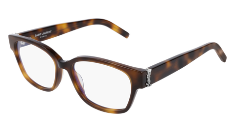 Saint Laurent - SL M35 Havana Eyeglasses / Demo Lenses