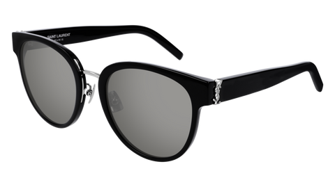 Saint Laurent SL1 Black Sunglasses / Silver Lenses