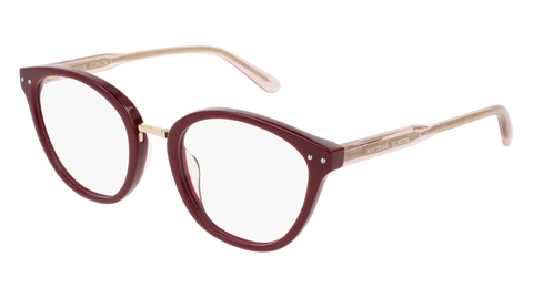 Bottega Venetta - BV0195O Burgundy Eyeglasses / Demo Lenses