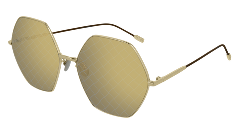 Bottega Venetta - BV0201S Gold Sunglasses / Brown Lenses
