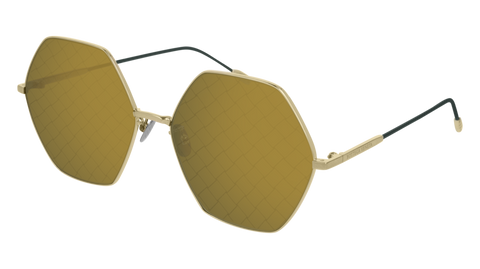 Bottega Venetta - BV0201S Gold Sunglasses / Green Lenses