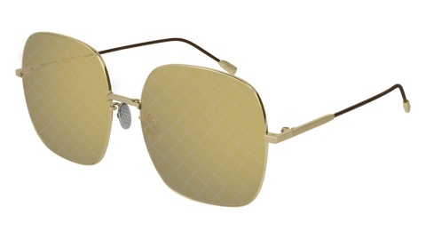 Bottega Venetta - BV0202S Gold Sunglasses / Brown Lenses