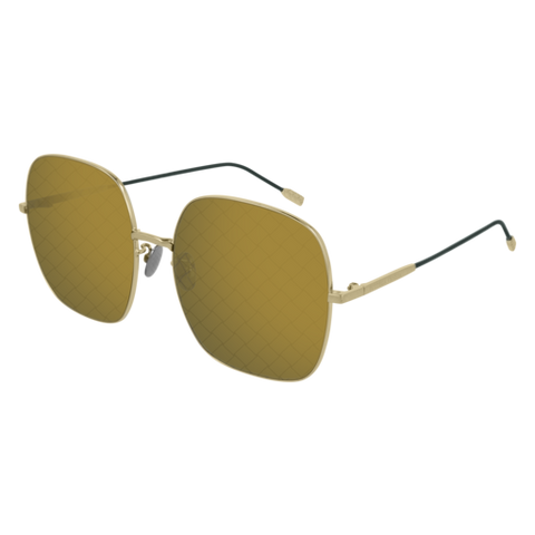 Bottega Venetta - BV0202S Gold Sunglasses / Green Lenses