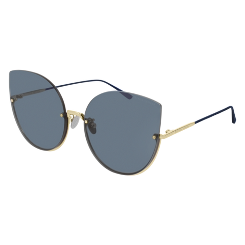 Bottega Venetta - BV0204S Gold Sunglasses / Blue Lenses