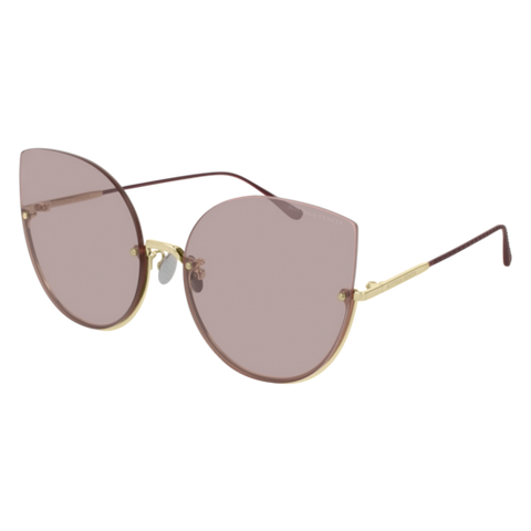 Bottega Venetta - BV0204S Gold Sunglasses / Pink Lenses