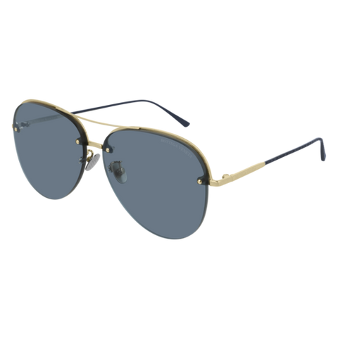 Bottega Venetta - BV0206S Gold Sunglasses / Blue Lenses