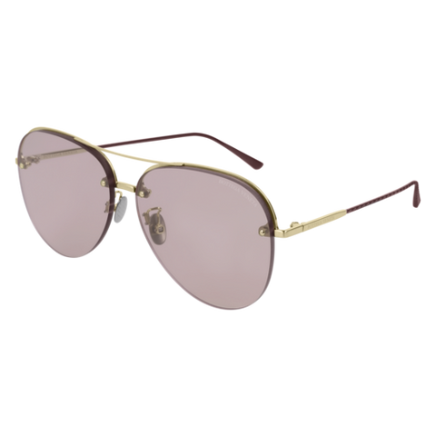 Bottega Venetta - BV0206S Gold Sunglasses / Pink Lenses