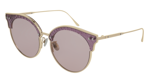 Bottega Venetta - BV0210S Gold Sunglasses / Pink Lenses