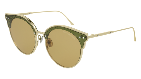 Bottega Venetta - BV0210S Gold Sunglasses / Yellow Lenses