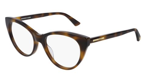 McQ - MQ0153O 51mm Havana Eyeglasses / Demo Lenses