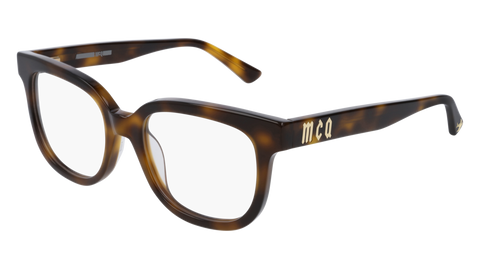 McQ - MQ0154O 51mm Havana Eyeglasses / Demo Lenses
