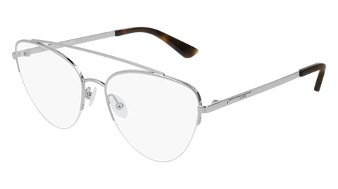 McQ - MQ0165O 55mm Silver Eyeglasses / Demo Lenses