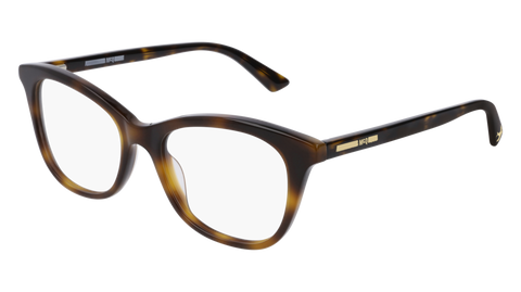 McQ - MQ0169O 51mm Havana Eyeglasses / Demo Lenses