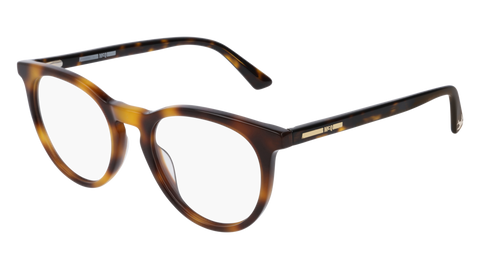 McQ - MQ0172O 49mm Havana Eyeglasses / Demo Lenses