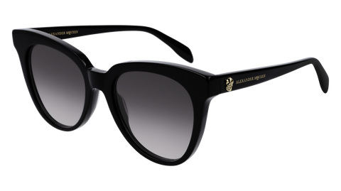 Alexander McQueen - AM0159S Black Sunglasses / Grey Gradient Lenses