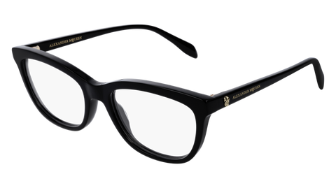 Alexander McQueen - AM0161O Black Eyeglasses / Demo Lenses