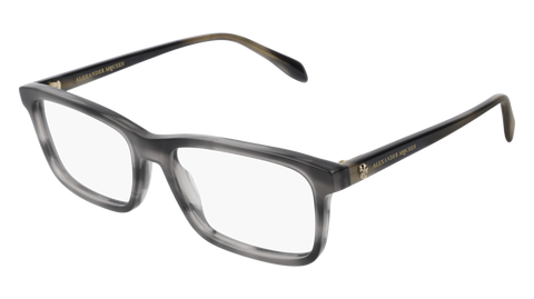 Alexander McQueen - AM0162O Grey Eyeglasses / Demo Lenses