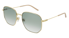 Gucci - GG0396S Gold Sunglasses / Green Gradient Lenses