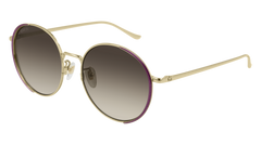 Gucci - GG0401SK Gold Sunglasses / Dark Brown Gradient Lenses